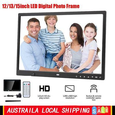 """2019 HD 12""""/13""""/15"""" LED Digital Photo Frame Picture Alarm Clock MP4 Movie Player"""
