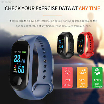 BD1D 96B5 Bluetooth IP67 Heart Rate Monitor Fitness Tracker Smart Watch Band,