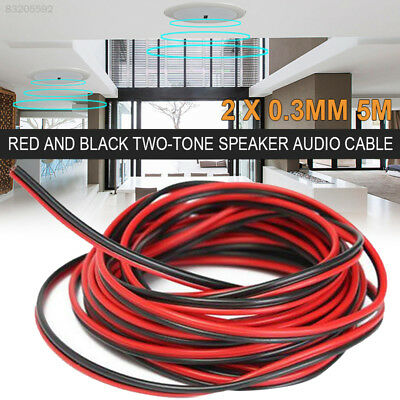 9237 FF1F 12CA Extension Electric Cable 0.3mm 5m Durable Copper Wire Car Speaker