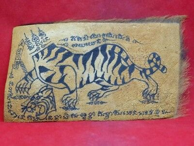 Tiger Yant Seau Wealth Amulet Lp Pern Strong Magic Power Protection