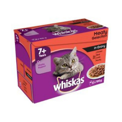 Whiskas Delicious Nutritious Pouch Meat Selection in Gravy Cat Wet Food 12 x100g