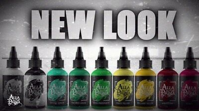Alla Prima NEW LOOK Tattoo Ink Individual Single Bottles Pick Your Color 1 oz