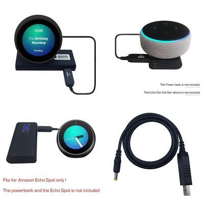 Christmas Gift 12V Power Connection Cable Amazon Echo Spot Power Supply Lead