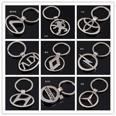 2019 Car Logo Fashion Titanium Key Chain Car Keychain Ring Keyfob Metal Keyring