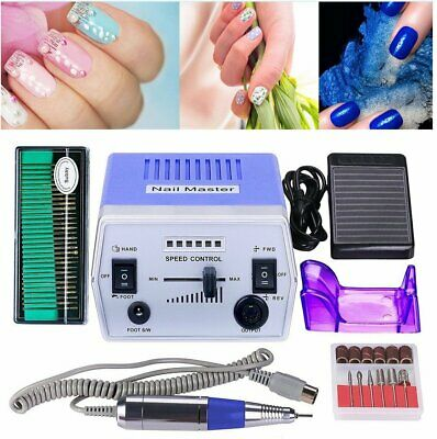 30000RPM Professional Electric Nail Art Drill File Bits Manicure Machine + 7Gift