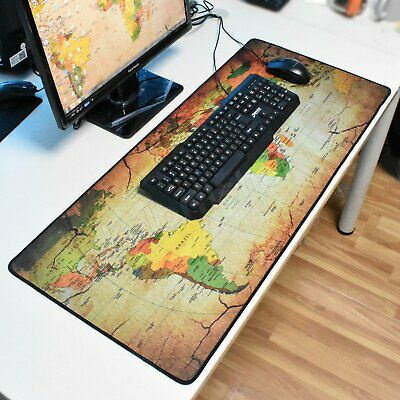 90*40cm Large Extended Gaming Mouse Pad World Map Desk Mat for Keyboard Laptop