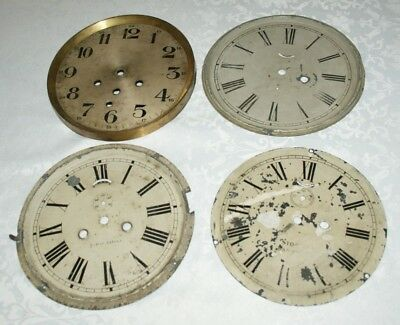 Mixed Collection Of Antique/Vintage Clock Faces