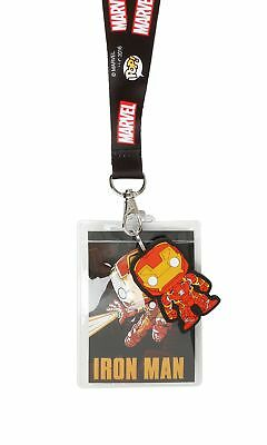 Funko Lanyard: Marvel - Iron Man Embossed Figure and Badge Holder Item No. 9726