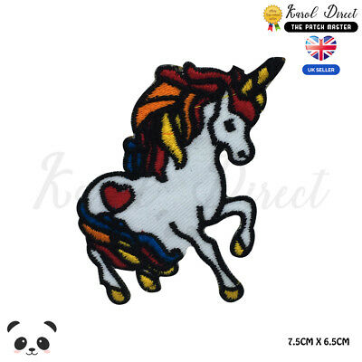 Unicorn Rainbow Disney Embroidered Iron On Sew On PatchBadge For Clothes etc