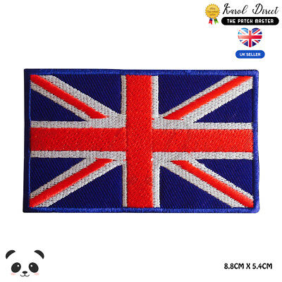 UK National Flag Embroidered Iron On Sew On Patch Badge For Clothes etc