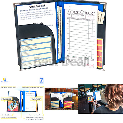 Server Book for Waitress | Waitress book that fits in server apron | Waitstaf...