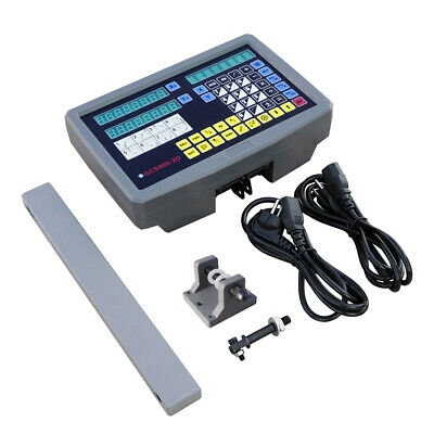 2 Axis Digital Readout Linear Scale DRO Kit Display CNC Milling Lathe Encoder UK