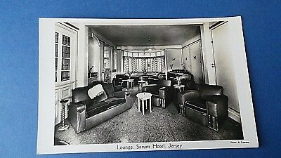 Jersey Channel Island Postcard Lounge Sarum Hotel Real Photo Card A Laurens 1939