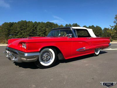1959 Ford Thunderbird  1959 Ford Thunderbird Convertible Red Factory A/C P/W P/Seat Leather Wire wheels