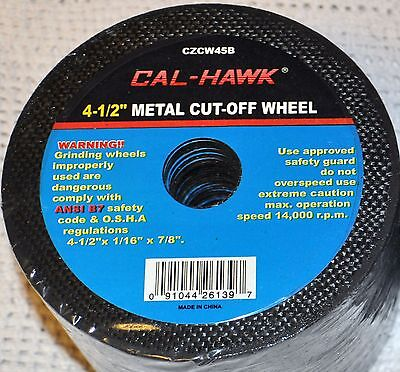 """10 Piece 4-1/2"""" 4.5 inch metal cut off wheel disc for Die Grinder 1/16"""" thick"""