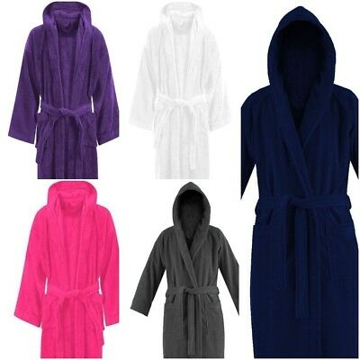 Luxury Bath Robe Towelling Unisex Dressing Gown Terry Towel 100% Egyptian Cotton