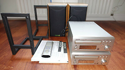 Denon Twin Hifi System With Mission Speakers And Target Speaker Stands