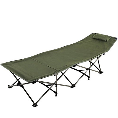 REDCAMP Camping Cot for Adults with Attached Pillow, Easy & Portable Cot, Free