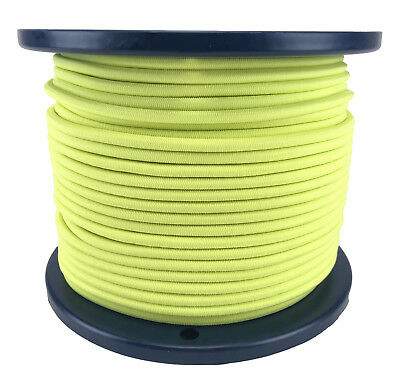 5mm Fluorescent Yellow Elastic Bungee Rope Shock Cord Tie Down UV Stable