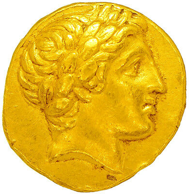 Philip II of Macedonia, Gold Coin Stater, Sup/Spd. Antique Greek Gold Coin