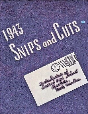 "1943 ""Snips and Cuts"" with NAMES! Central High School Yearbook - Charlotte, NC"