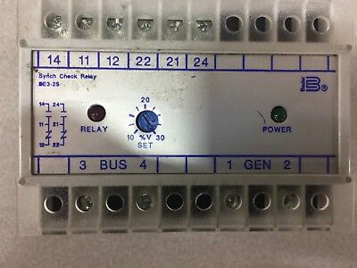 Used Basler Synch Check Relay Be3-25-1A1N5