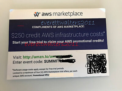 $250 AWS Credits Amazon Web Services Credit exp 12/31/2018 - Safe Non-Education