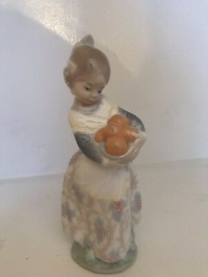Lladro Valencian Girl With Oranges Porcelain Figurine 4841