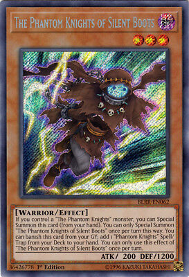 Yugioh: 1x The Phantom Knights of Silent Boots - BLRR-EN062 - Secret Rare - 1st