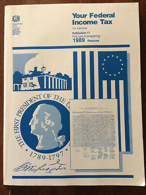 Treasury IRS your federal income tax for individuals book 1989