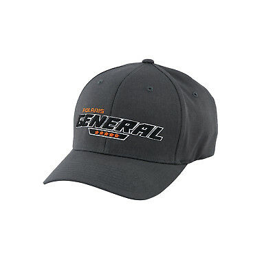 a3966a7d36752 POLARIS RZR CAP in Gray w  Orange Logo - Size S M - Genuine Polaris ...