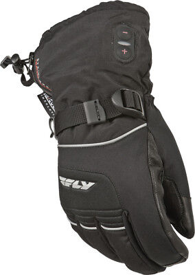 Fly Racing Ignitor II Heated Cold Weather Glove Black Snowmobile Size XL