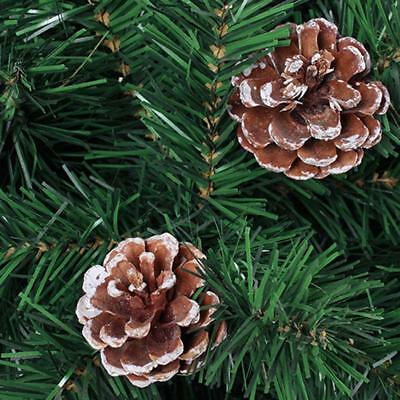 6pcs Christmas Pine Cones logs/snow White Christmas Tree Hanging Pendant 2019