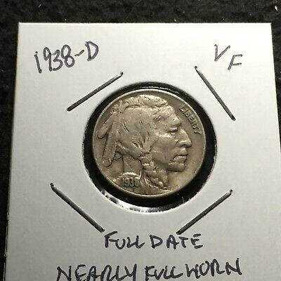 1938-D US. Buffalo / Indian Head Nickel / Very Fine