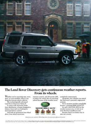 Land Rover Discovery series 1-pg print ad 2000 silver car
