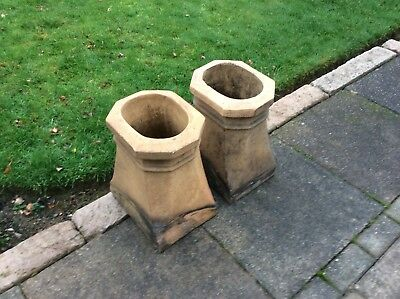 antique chimney pots ( pair )
