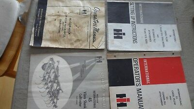 International Harvester Lot of Chisel Plow and Cultivator Manuals