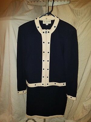 St. John by Marie Gray knitted skirt suit women's sz 12 & 8