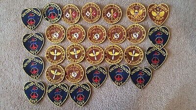 Collection Of Ww2 Sweetheart Patches Navy, Marines, Signal Corp. Waves  Wow!