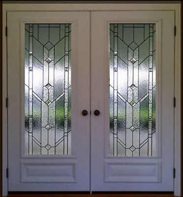 """Stain Glass Pocket or french interior doors  36"""" x 30"""" 1 Pr"""