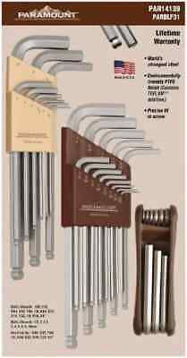 """Paramount 31 Piece L-Wrench/Fold-Up Combo Hex Key Set Hex Range 0.05 to 3/8"""",..."""