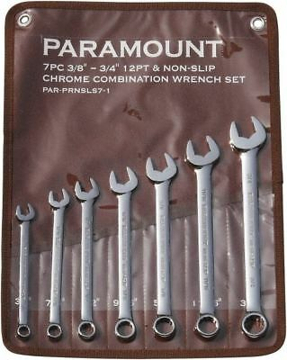 """Paramount 7 Piece, 3/8 to 3/4"""", 12 Point Combination Wrench Set Inch Measurem..."""
