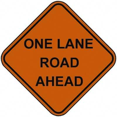 PRO-SAFE One Lane Road Ahead, 48 Inch Square, Nylon Construction Roadway Sign...
