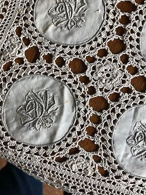 Antique Placemats Crocheted Victorian SIX