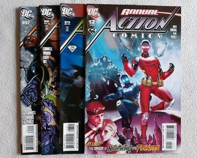 4 Vfn 2009 Action Comics #878 891 892 + Annual #12 Dc Comics