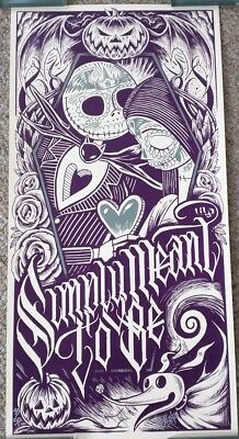 Nightmare Before Christmas Print Jack And Sally Muertitos Limited Edition Disney