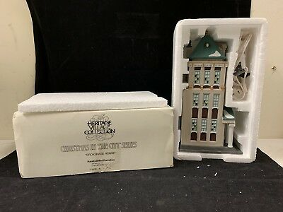 Dept 56 Heritage Village Christmas In The City BROKERAGE HOUSE #5881-5 1994
