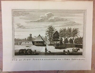 Java Tangerang 1750 By Bellin - Van Schley Antique Copper Engraved View