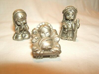 PEWTER CANDLESTICK HOLDERS NORSK TINN NORWAY, Set of 2