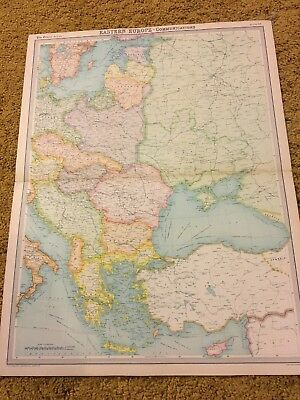 old world atlas Plate Map Eastern Europe